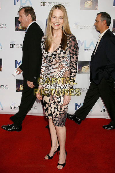 PEGGY LIPTON.Mentor LA's Promise Gala Honoring Tom Cruise held at 20th Century Fox Studios, Century City, California, USA,.22nd March 2007..full length white black brown pattern print dress.CAP/ADM/RE.©Russ Elliot/AdMedia/Capital Pictures.