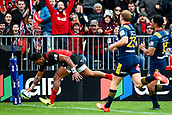 June 3rd 2017, AMI Stadium, Christchurch, New Zealand; Super Rugby; Crusaders versus Highlanders;  Seta Tamanivalu of the Crusaders scores a try  during the Super Rugby match