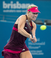 Angelique Kerber (GER)<br /> <br /> Tennis - Brisbane International 2015 - ATP 250 - WTA -  Queensland Tennis Centre - Brisbane - Queensland - Australia  - 8 January 2015. <br /> &copy; Tennis Photo Network