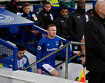 Wayne Rooney of Everton leads out the team during the premier league match at the Goodison Park Stadium, Liverpool. Picture date 2nd December 2017. Picture credit should read: Simon Bellis/Sportimage