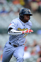 Reading Fightin Phils outfielder Anthony Hewitt #25 during a game against the Trenton Thunder on July 8, 2013 at Arm & Hammer Park in Trenton, New Jersey.  Trenton defeated Reading 10-6.  (Mike Janes/Four Seam Images)