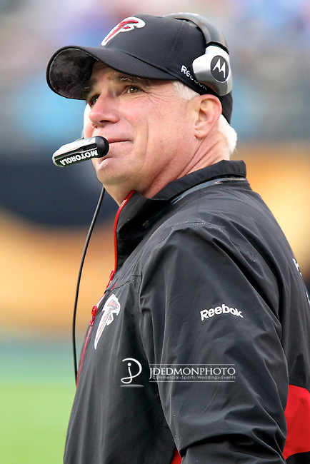 December 12, 2010; Head Coach Mike Smith at Bank of America Stadium in Charlotte,NC. Falcons win 31-10 over Carolina. Jim Dedmon/CSM