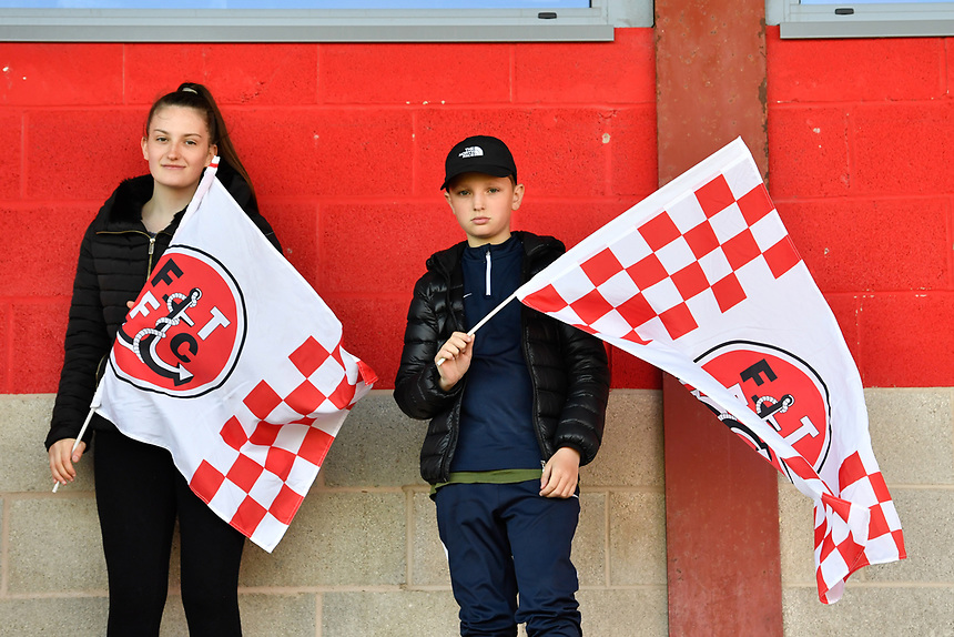 Fans at Highbury Stadium, home of Fleetwood Town<br /> <br /> Photographer Terry Donnelly/CameraSport<br /> <br /> The EFL Sky Bet League One Play-Off Second Leg - Fleetwood Town v Bradford City - Sunday 7th May 2017 - Highbury Stadium - Fleetwood<br /> <br /> World Copyright &copy; 2017 CameraSport. All rights reserved. 43 Linden Ave. Countesthorpe. Leicester. England. LE8 5PG - Tel: +44 (0) 116 277 4147 - admin@camerasport.com - www.camerasport.com