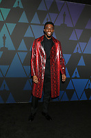 LOS ANGELES - NOV 18:  Chadwick Boseman at the 10th Annual Governors Awards at the Ray Dolby Ballroom on November 18, 2018 in Los Angeles, CA