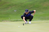 Tommy Fleetwood (ENG) lines up his putt on the 3rd green during Sunday's Final Round of the WGC Bridgestone Invitational 2017 held at Firestone Country Club, Akron, USA. 6th August 2017.<br /> Picture: Eoin Clarke | Golffile<br /> <br /> <br /> All photos usage must carry mandatory copyright credit (&copy; Golffile | Eoin Clarke)