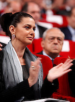 Il Presidente della Camera dei Deputati Laura Boldrini applaude durante l'Assemblea annuale di Confindustria a Roma, 23 maggio 2013..Italy's Lower Chamber of Deputies' President Laura Boldrini applauds during the Italian Confindustria industrialists association's annual assembly in Rome, 23 May 2013..UPDATE IMAGES PRESS/Riccardo De Luca