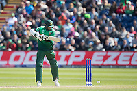 Shakib Al Hasan (Bangladesh) dabs to point  looking for a single during England vs Bangladesh, ICC World Cup Cricket at Sophia Gardens Cardiff on 8th June 2019