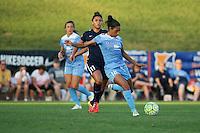 Piscataway, NJ - Saturday Aug. 27, 2016: Cara Walls, Raquel Rodriguez during a regular season National Women's Soccer League (NWSL) match between Sky Blue FC and the Chicago Red Stars at Yurcak Field.