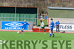 Kieran Costello (Killarney Athletic B) in action with Jordan Murphy (Tralee United) in the Greyhound Cup,at Mounthawk Park,Tralee.on Sunday