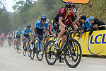 Geraint Thomas (WAL) Team Ineos, Mikel Landa (ESP) and Nairo Quintana (COL) Movistar Team and Jakob Fuglsang (DEN) Astana battle up La Planche des Belles Filles at the end of Stage 6 of the 2019 Tour de France running 160.5km from Mulhouse to La Planche des Belles Filles, France. 11th July 2019.<br /> Picture: Serge Waldbillig | Cyclefile<br /> All photos usage must carry mandatory copyright credit (© Cyclefile | Serge Waldbillig)