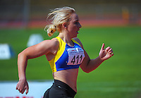 Otago's Madaline Spence in action on day three of the 2015 National Track and Field Championships at Newtown Park, Wellington, New Zealand on Sunday, 8 March 2015. Photo: Dave Lintott / lintottphoto.co.nz