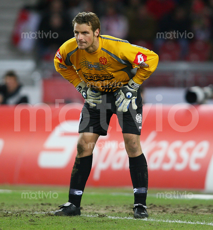 Fussball 1. Bundesliga 2005/2006 - 22.Spieltag VfB Stuttgart - 1.FSV Mainz 05 FSV Torwart Christian Wetklo