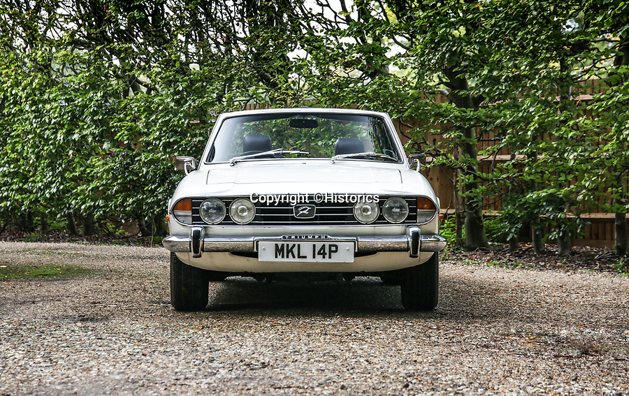 BNPS.co.uk (01202 558833)<br /> Pic: Historics/BNPS<br /> <br /> Take two - the immaculate motor was bought as a birthday present for the ex footballer in 2012.<br /> <br /> A classic sports car belonging to former England international footballer Gerry Francis has emerged for sale for £20,000.<br /> <br /> The 1976 Triumph Stag has been with Francis since 2012 when it was given to him as a surprise gift from his son.<br /> <br /> It is identical to another motor the ex QPR midfielder owned during the height of his playing career in the 1970s.