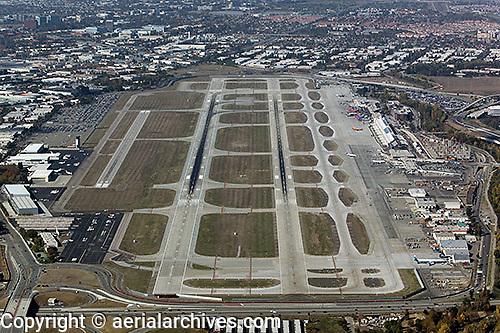 aerial photograph San Jose California Silicon Valley Mineta San Jose airport SJC