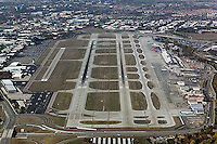 aerial photograph San Jose California Silicon Valley Mineta San Jose airport SJC