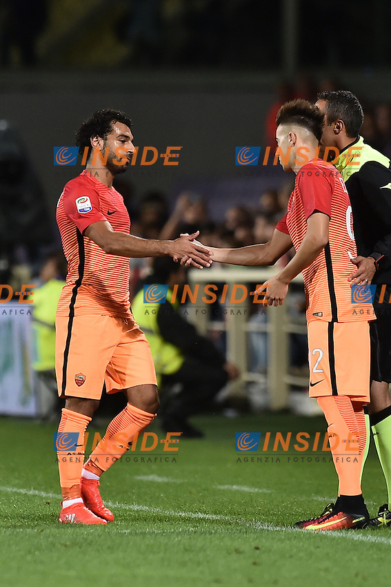 Mohamed Salah e Stephan El Shaarawy Roma<br /> Firenze 18-09-2016 Stadio Artemio Franchi <br /> Football Calcio Serie A <br /> Fiorentina - Roma <br /> Foto Andrea Staccioli / Insidefoto