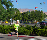Ralph Babel heads towards the finish line during the 49th Annual Journal Jog in Reno, Nevada on Sunday, September 10, 2017.
