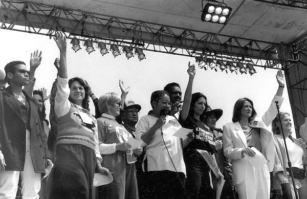 NOW Anti Violence Rally, Washington D.C. April 9, 1995 (Dolores Huerta UFW, Jesse Jackson, Bella Abzug, Patricia Ireland)