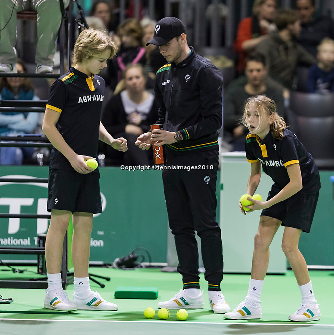Rotterdam, Netherlands, 10 februari, 2018, Ahoy, Tennis, ABNAMROWTT,  Supermatch semifinal: Ballchange<br /> Photo: Henk Koster/tennisimages.com
