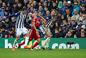 30th September 2017, The Hawthorns, West Bromwich, England; EPL Premier League football, West Bromwich Albion versus Watford; Richarlison of Watford gets a smack in the mouth by accident