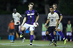 Ryan Inman (4) of the High Point Panthers controls the ball during first half action against the Wake Forest Demon Deacons at W. Dennie Spry Soccer Stadium on October 9, 2018 in Winston-Salem, North Carolina. The Demon Deacons defeated the Panthers 4-2.  (Brian Westerholt/Sports On Film)