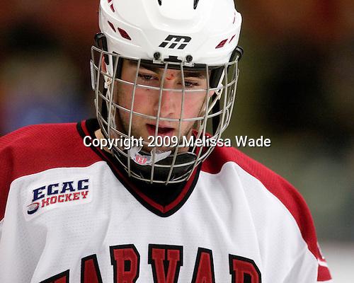 Louis Leblanc (Harvard - 20) - The Boston College Eagles defeated the Harvard University Crimson 3-2 on Wednesday, December 9, 2009, at Bright Hockey Center in Cambridge, Massachusetts.
