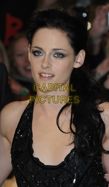 Kristen Stewart .arriving at the UK premiere for 'The Twilight Saga: Breaking Dawn - Part One' at the Westfield East Shopping Centre, Stratford City, London, UK,.16th November 2011..portrait headshot smoky eyes make-up eyeshadow smokey  black sequined sequin beaded beauty .CAP/WIZ.© Wizard/Capital Pictures.