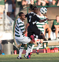 Number 8 ranked Charlotte beats number 16 ranked Coastal Carolina 1-0 on a goal by Thomas Allen in the 101st minute during the second overtime.  Ashton Bennett (7), Biko Bradnock-Brennan (4)