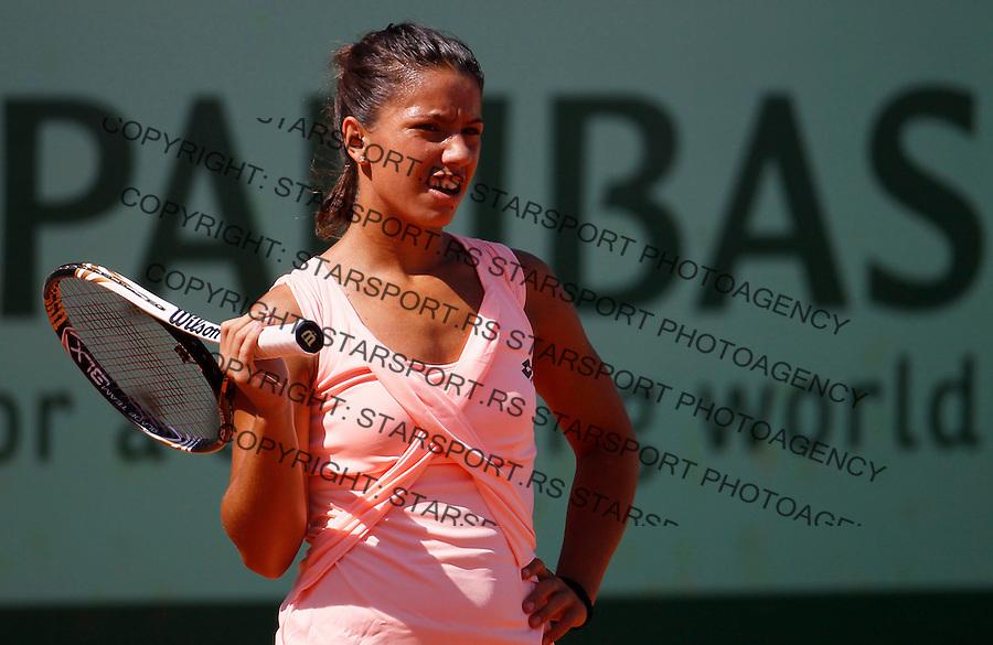 Tenis, Junior Roland Garros 2011.Natalija Kostic (SRB) Vs. Victoria Duval (USA).Natalija Kostic, react.Paris, 01.06.2011..foto: Srdjan Stevanovic/Starsportphoto ©