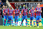 Crystal Palace's Jordan Ayew (2nd L) celebrates after scoring to make it 1-1 during the Premier League match at Selhurst Park, London. Picture date: 11th January 2020. Picture credit should read: Paul Terry/Sportimage