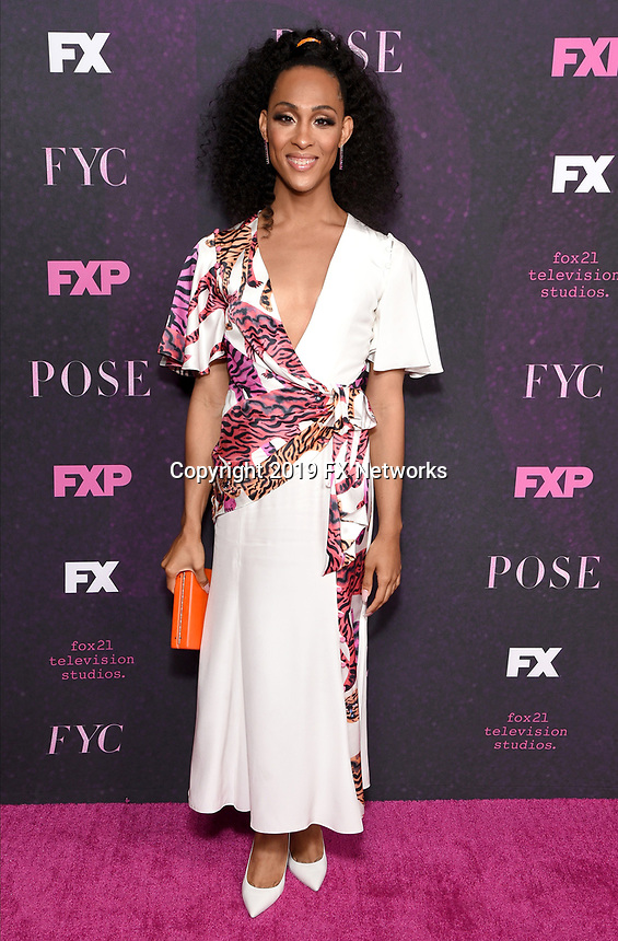 """LOS ANGELES - JUNE 1: Cast member Mj Rodriguez attends the FYC Event for Fox 21 TV Studios & FX Networks """"Pose"""" at The Hollywood Athletic Club on June 1, 2019 in Los Angeles, California. (Photo by Stewart Cook/FX/PictureGroup)"""