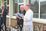 Bishop Bill Murphy and Fr Brendan Harrington at the official opening of a new extension to Fossa National School in Killarney.