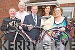 Taoiseach Enda Kenny pictured with Mike Leahy, Cllr Cathal Walsh, Helen Fox, service manager and Nora Ferris pictured as he handed over his Ring of Kerry cycle bike to the Home from Home centre, Ballydowney, Killarney, on Wednesday morning.