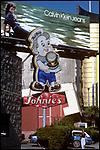 Calvin Klein billboard with Johnie's Fat Boy, Wilshire Blvd, 1980