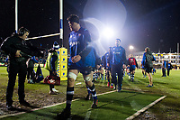 The Bath Rugby team leave the field after the pre-match warm-up. Aviva Premiership match, between Bath Rugby and Exeter Chiefs on March 23, 2018 at the Recreation Ground in Bath, England. Photo by: Patrick Khachfe / Onside Images
