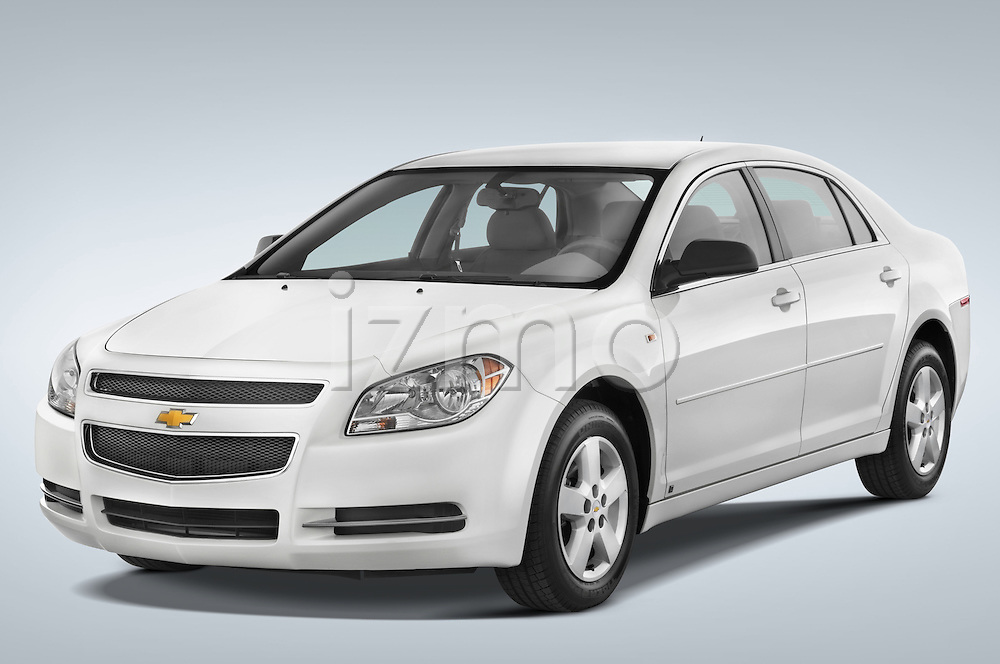 Front three quarter view of a 2008 Chevrolet Malibu Sedan