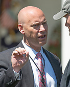 White House Director of Legislative Affairs Marc Short prior to the arrival of United States President Donald J. Trump, who will present the Commander-in-Chief's Trophy to the U.S. Military Academy football team in the Rose Garden of the White House in Washington, DC on Tuesday, May 1, 2018.  The Commander-in-Chief's trophy is presented to the winner of the annual Army-Navy football game which was played at Lincoln Financial Field in Philadelphia, Pennsylvania on December 9, 2017.  The Army Black Knights beat the Navy Midshipmen 14 - 13.<br /> Credit: Ron Sachs / CNP