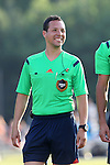 24 June 2014: Fourth Official Jose Carlos Rivero. The Carolina RailHawks of the North American Soccer League played the Los Angeles Galaxy of Major League Soccer at Koka Booth Stadium at WakeMed Soccer Park in Cary, North Carolina in the fifth round of the 2014 Lamar Hunt U.S. Open Cup soccer tournament. The RailHawks won the game 1-0 in overtime.