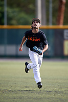 Gage Benavides (61) of Burgaw, North Carolina during the Baseball Factory Pirate City Christmas Camp & Tournament on December 29, 2018 at Pirate City in Bradenton, Florida. (Mike Janes/Four Seam Images)
