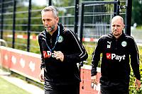 GRONINGEN - Voetbal, Eerste training FC Groningen, Corpus den Hoorn, seizoen 2019-2020, 22-06-2019, FC Groningen assistent-trainer Adrie Poldervaart  en FC Groningen trainer Danny Buijs