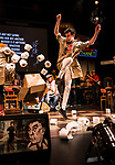 REASONS TO BE CHEERFUL by Sirett;<br /> Joey Hickman as Cousin Joey - keyboards;<br /> Directed by Sealey;<br /> Associate director: Beeton;<br /> Writer: Sirett;<br /> Designer: Ashcroft;<br /> Assistant designer: Charlesworth;<br /> Lighting designer: Scott;<br /> Sound designer: Gibson;<br /> Musical director: Hickman;<br /> Choreographer: Smith;<br /> Video designer: Haig;<br /> Projection design: Mclean; <br /> Music supervisor and Arrangements: Hyman;<br /> Voice coach: Holt; Casting: Hughes CDG<br /> BSL consultant: Jackson<br /> Audio description consultant: Oshodi<br /> Graeae Theatre Company;<br /> at The Belgrade Theatre, Coventry, UK;<br /> 8 September 2017;<br /> Credit: Patrick Baldwin;
