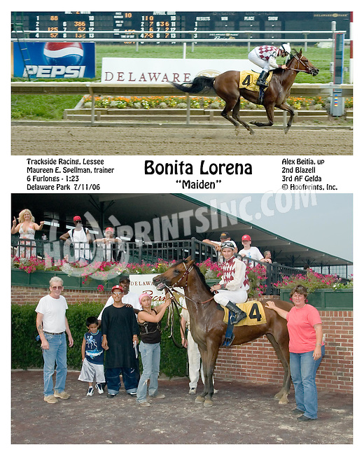 Bonita Lorena winning at Delaware Park on 7/11/06