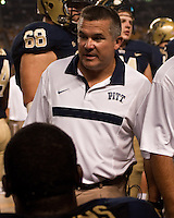 Pitt head coach Todd Graham. The Pittsburgh Panthers beat the Buffalo Bulls 35-16 at Heinz field in Pittsburgh, Pennsylvania on September 3, 2011