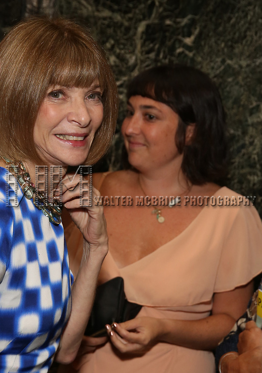 """Anna Wintour attends the Broadway Opening Night performance of """"Sea Wall / A Life"""" at the Hudson Theatre on August 08, 2019 in New York City."""