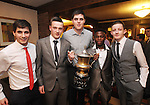 Ian D'auria, Shane O' Connell, Stephen Kitt, Nicholas Twumasi and Gary Roche pictured during Éire Óg GAA's medal presentation night at the Auburn Lodge Hotel in Ennis. Photograph by Declan Monaghan