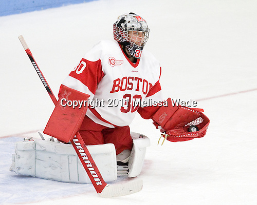 Alisssa Fromkin (BU - 30) - The Boston University Terriers defeated the Niagara University Purple Eagles 5-2 on Saturday, October 8, 2011, to sweep the weekend series at Walter Brown Arena in Boston, Massachusetts.
