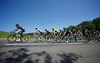 Team SKY controls the peloton all the way to the only (finishing) climb of the day.<br /> Yellow jersey Chris Froome (GBR/SKY) safely tucked away in 4th position.<br /> <br /> stage 10: Tarbes - La Pierre-Saint-Martin (167km)<br /> 2015 Tour de France