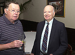Bob Luckey and ?, seen attending the retirement party for John Cornell on October 10, 2000. Photo by Jim Peppler. Copyright/Jim Peppler-2000