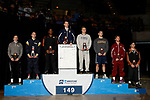 LA CROSSE, WI - MARCH 11: The 149 weight class during Division III Men's Wrestling Championship held at the La Crosse Center on March 11, 2017 in La Crosse, Wisconsin. (Photo by Carlos Gonzalez/NCAA Photos via Getty Images)