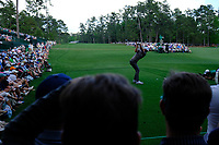 Dustin Johnson (USA) on the 14th tee during the 1st round at the The Masters , Augusta National, Augusta, Georgia, USA. 11/04/2019.<br /> Picture Fran Caffrey / Golffile.ie<br /> <br /> All photo usage must carry mandatory copyright credit (&copy; Golffile | Fran Caffrey)